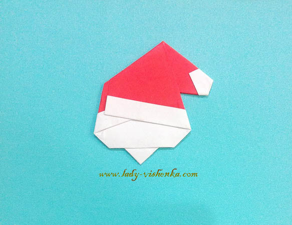 Santa Claus out of paper