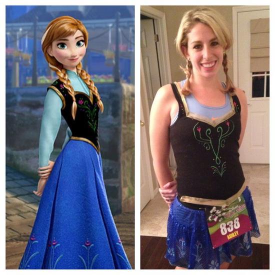 3. Halloween costumes Frozen - Anna, Elsa, Olaf