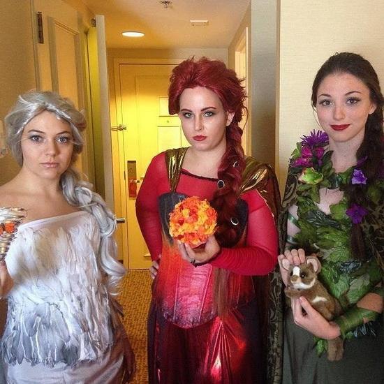 6. Halloween costumes Frozen - Anna, Elsa, Olaf