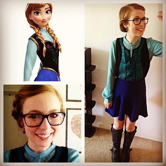 7. Halloween costumes Frozen - Anna, Elsa, Olaf