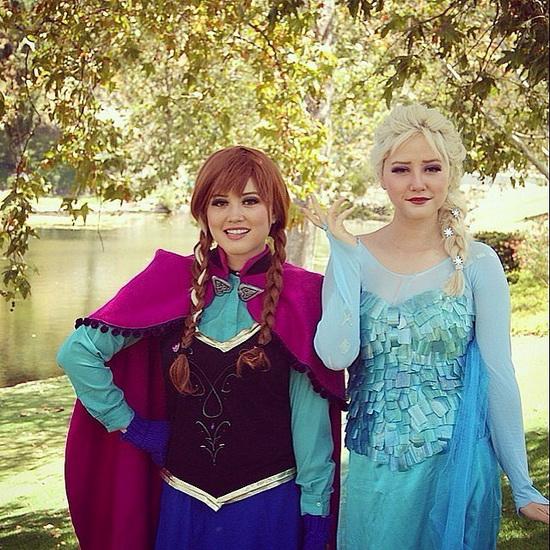 14. Halloween costumes Frozen - Anna, Elsa, Olaf