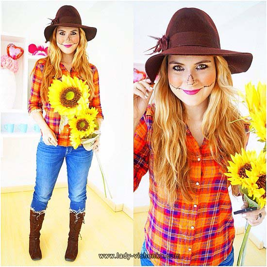 cute scarecrow Halloween costume for women