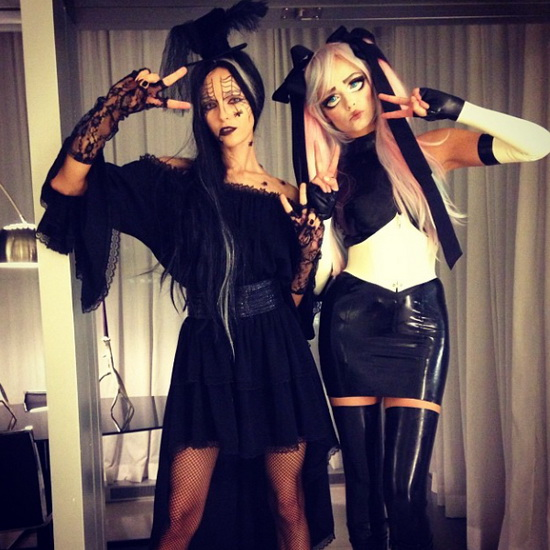 Models Natasha Poly and Valentina Zelyaeva - Halloween