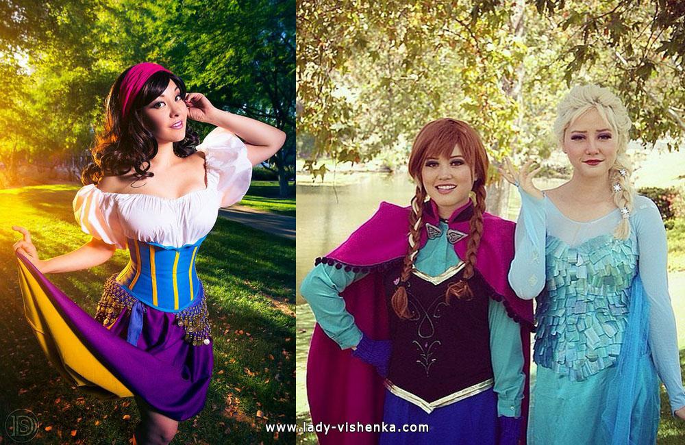Esmeralda and Anna / Elsa Costumes