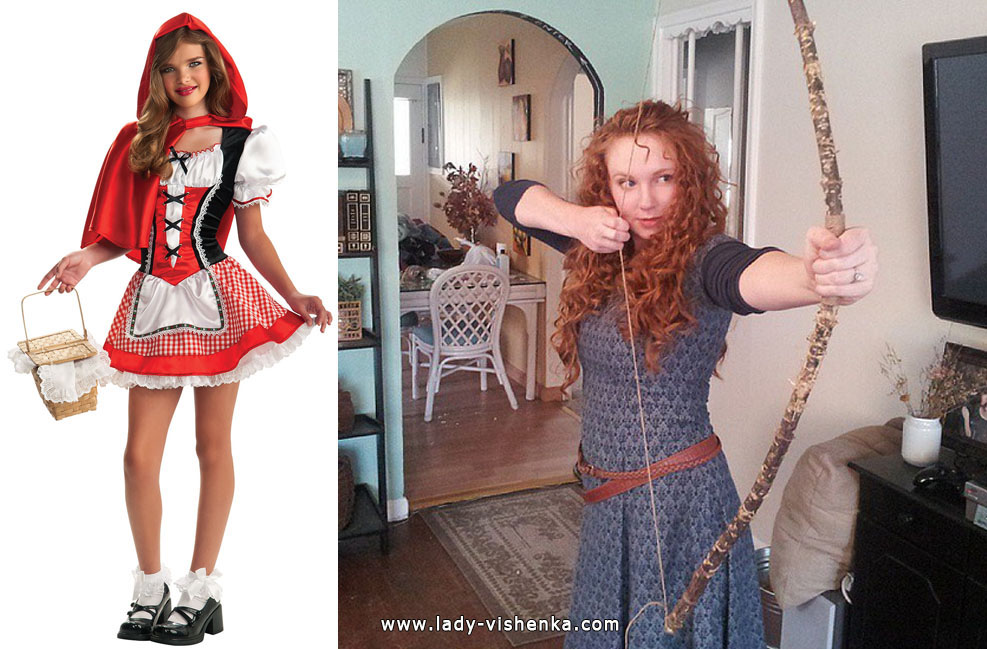 Little Red Riding Hood and Merida Costumes