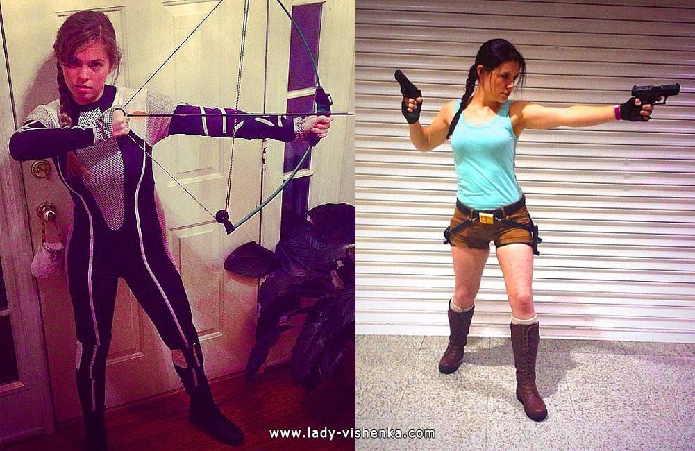 Katniss and Lara Croft Costumes