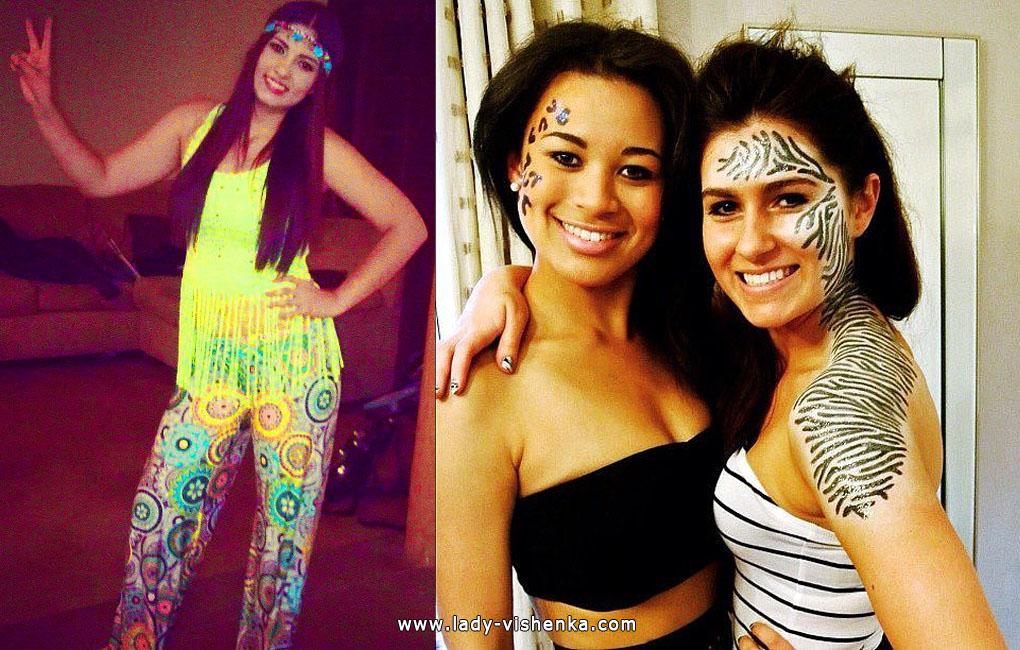 Hippies and Zebra Costumes