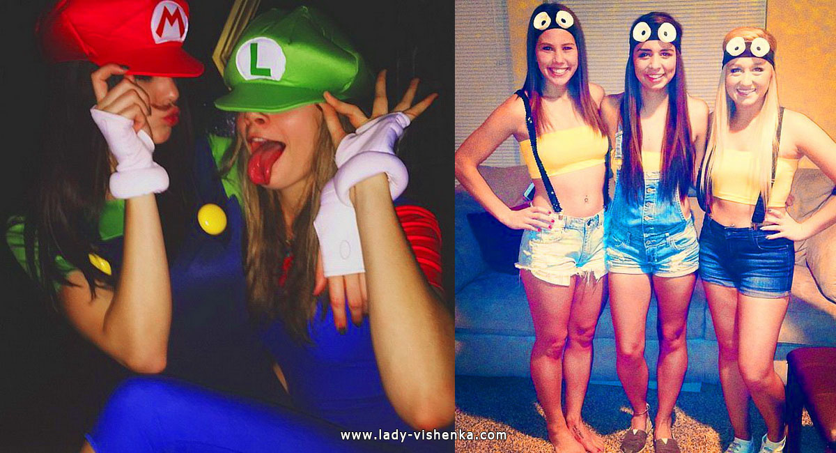 Mario and Minions Costumes