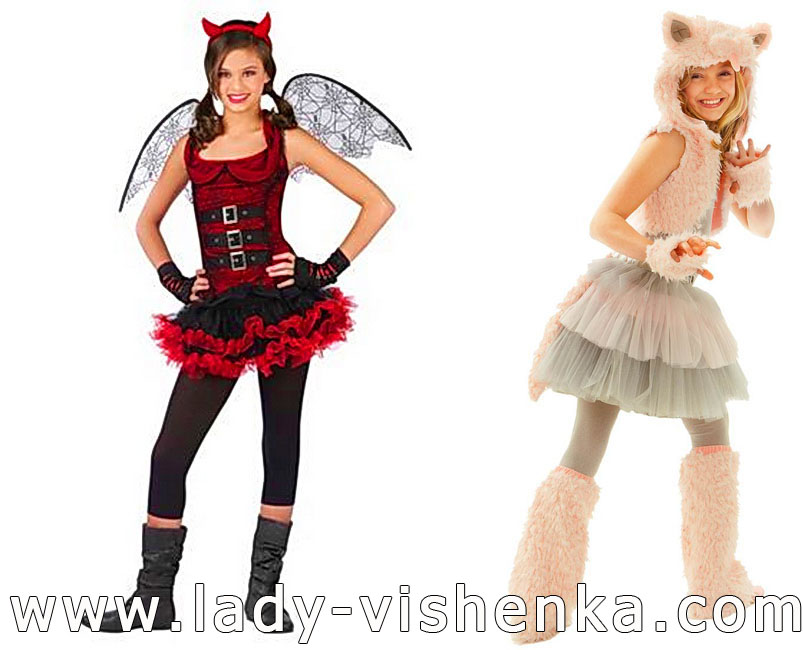 Devil and Cat Costumes