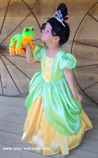 Kids Halloween - Princess and the Frog costume