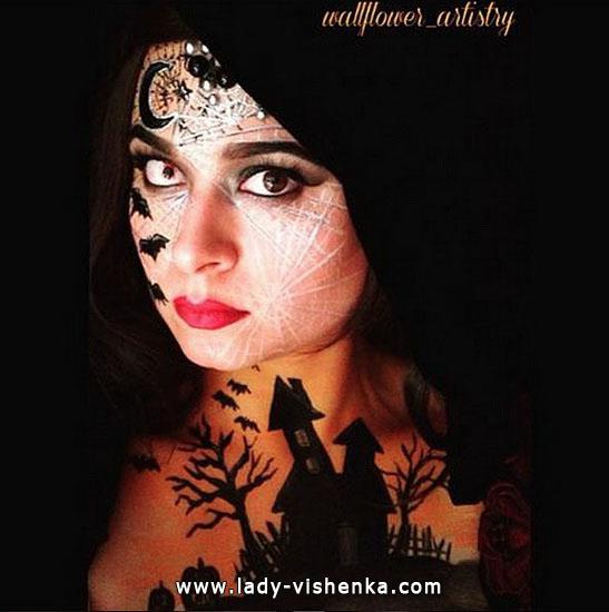 35. Halloween makeup