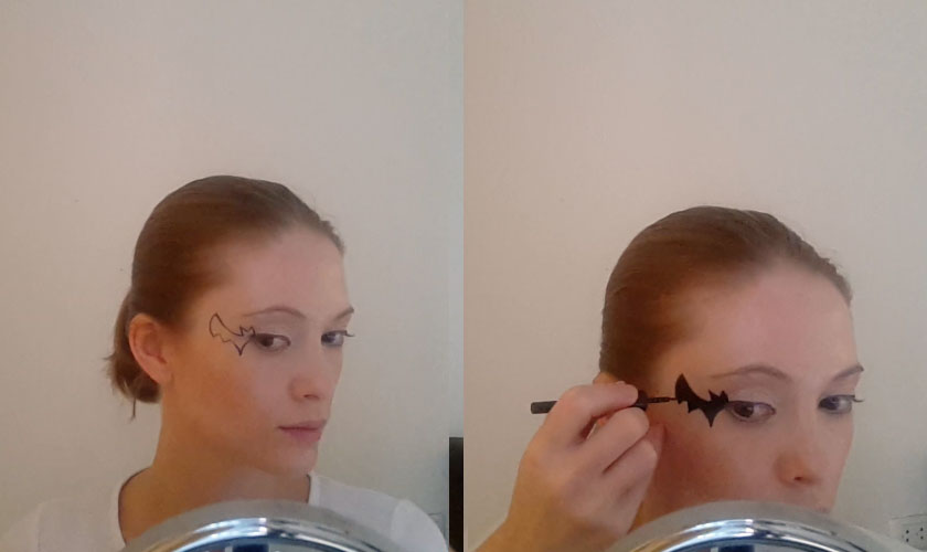 Step 4. Halloween makeup - Bat