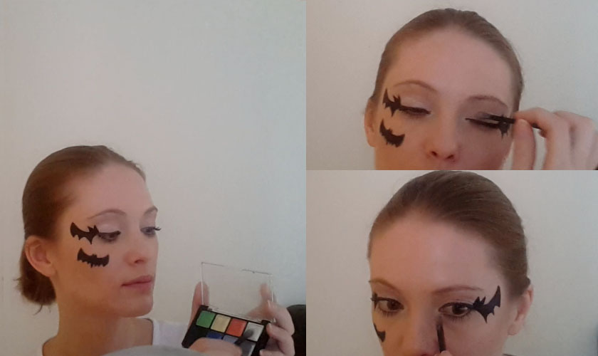 Step 7. Halloween makeup - Bat