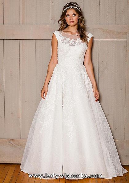 Long lace wedding dress 2016 - David's Bridal