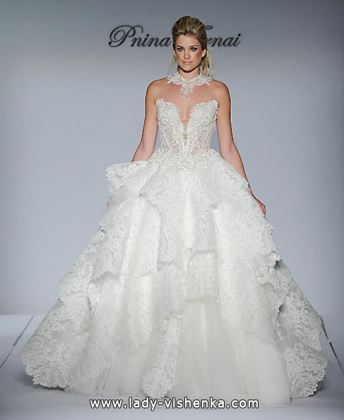 Wedding dress Quinceanera with lace - up Pnina Tornai