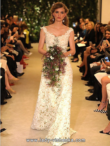 Lace wedding dress Carolina Herrera 2016