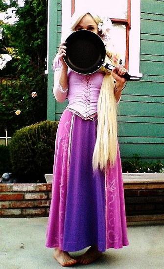 9. Rapunzel dress