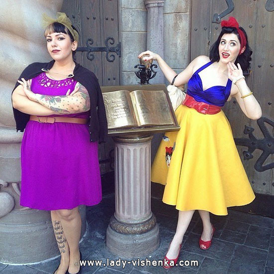 Image of Snow white on Halloween