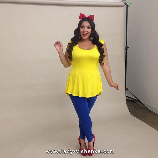 Snow white for Halloween - the easy way