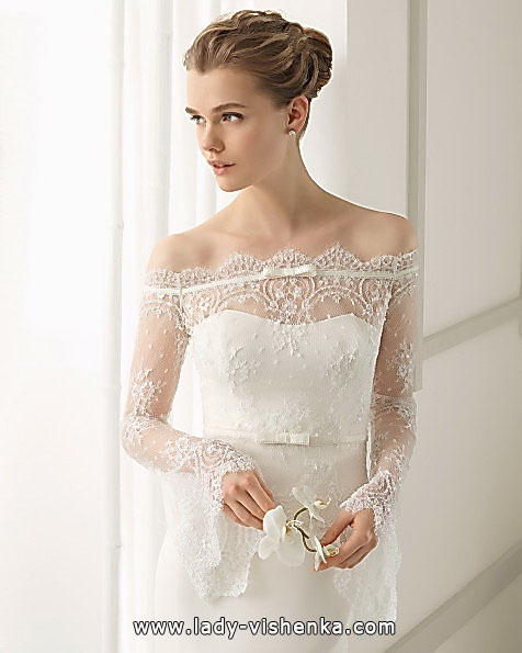 Wedding dresses with lace sleeves Aire Barcelona