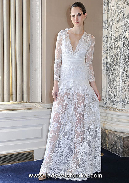 Wedding dresses with lace sleeves 2016 - Christos Costarellos