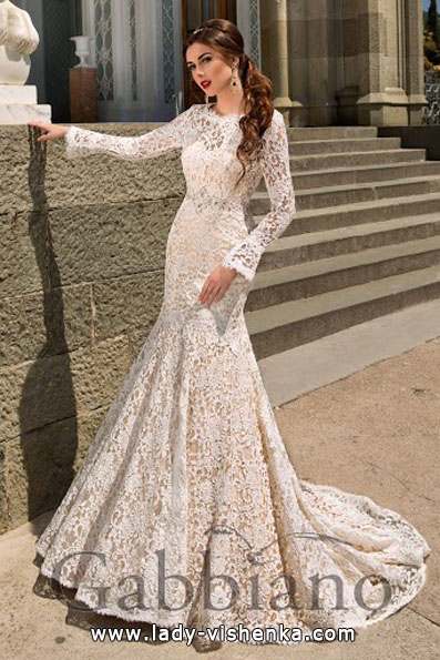Lace wedding dresses long sleeve Gabbiano