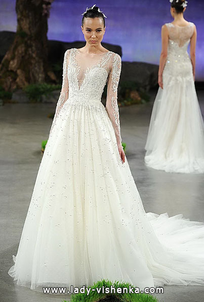 Wedding dresses with lace sleeves - Ines Di Santo