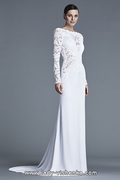 Wedding dresses with lace sleeves J Mendel