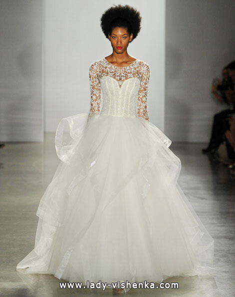 Wedding dresses with lace sleeves - Kenneth Pool