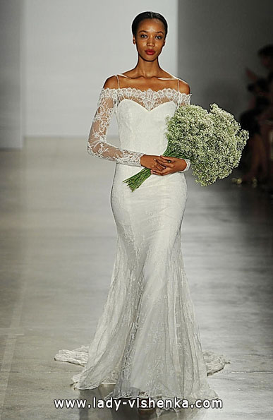 Wedding dresses with lace sleeves Christos