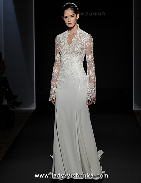 Wedding dresses with lace sleeves Mark Zunino