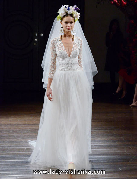 Wedding dresses with lace sleeves Naeem Khan