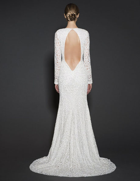 Wedding dresses with lace sleeves 2016 - Naeem Khan