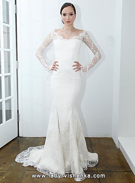 Wedding dresses with lace sleeves Pamella Roland