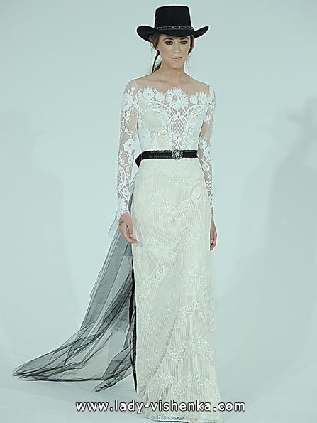 Wedding dresses with lace sleeves Claire Pettibone