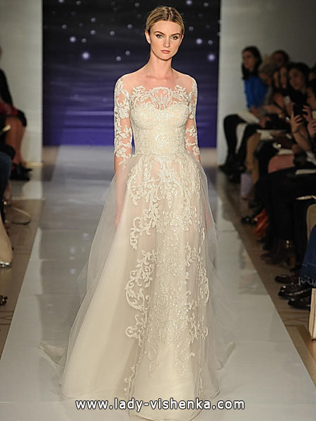 Wedding dresses with lace sleeves, Reem Acra