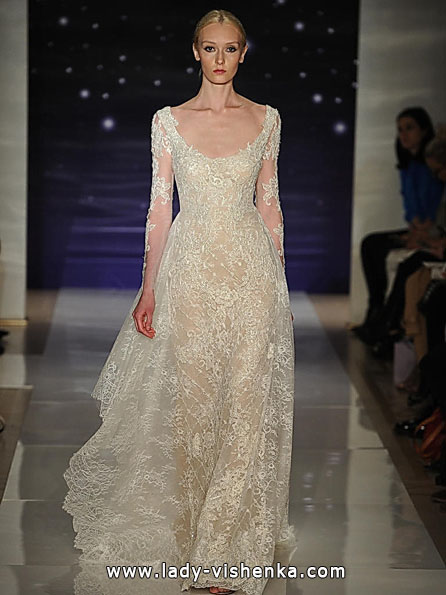 Wedding dresses with lace sleeves 2016 - Reem Acra