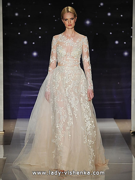 Wedding dresses with lace sleeves photos Reem Acra