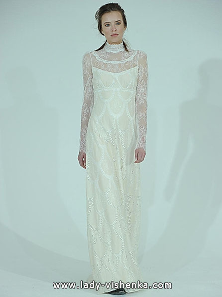 Wedding dresses with lace sleeves 2016 - Claire Pettibone