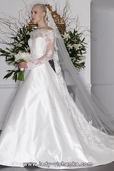 Wedding dresses with lace sleeves Angele Keveza