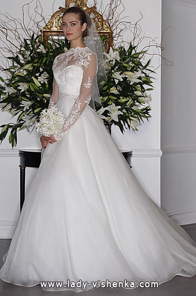Wedding dresses with lace sleeves 2016 - Angele Keveza