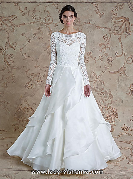 Wedding dresses with lace sleeves Sareh Nouri