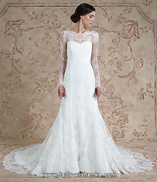 Lace wedding dresses long sleeve Sareh Nouri