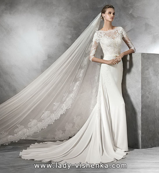 Wedding dresses with lace sleeves photos 2016 - Pronovias