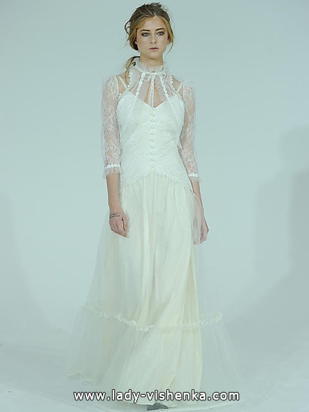 Wedding dresses with lace sleeves photos Claire Pettibone