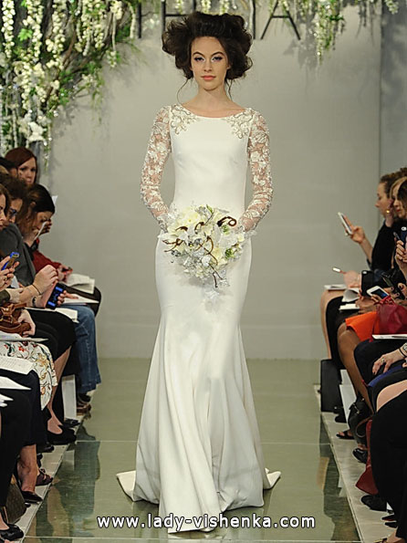 Wedding dresses with lace sleeves Theia