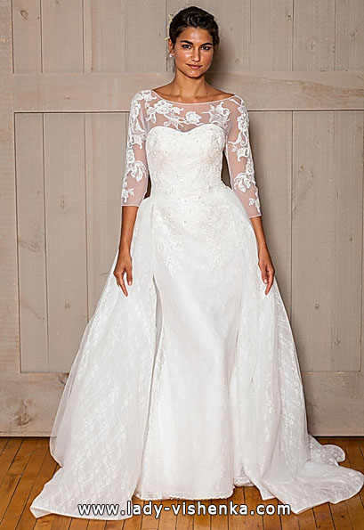Wedding dresses with lace sleeves David's Bridal