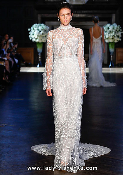 Wedding dresses with lace sleeves - Alon Livne