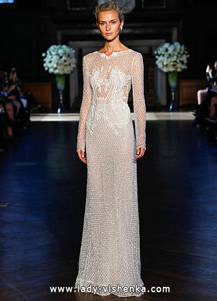 Wedding dresses with lace sleeves 2016 - Alon Livne