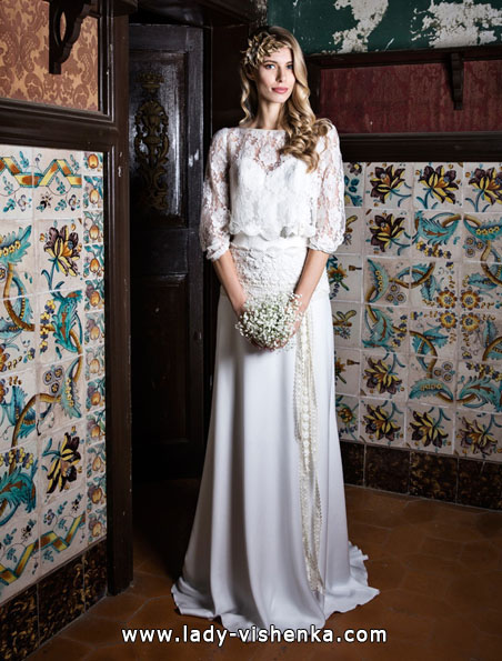 Wedding dresses with lace sleeves Jordi Dalmau